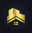 house roconstruction building gold logo vector image vector image