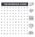 interface line icons signs set outline vector image vector image