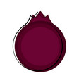 isolated pomegranate sketch icon vector image