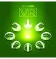 Isometric virtual reality headset vector image vector image