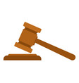 judge or auction gavel icon in flat style vector image vector image