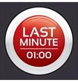 Last minute sale button round sticker vector image vector image