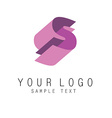 Letter E geometric colorful ribbons style logo vector image vector image