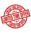 limited time offer round red grunge stamp vector image vector image