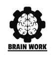 logic brain work logo simple style vector image