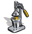 manual juice squeezer for citrus fruits isolated vector image vector image
