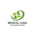 medical healthcare cross logo vector image vector image