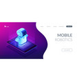 mobile robotics isometric3d landing page vector image