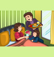 mothers day breakfast in bed vector image