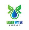 natural mineral water logo design vector image vector image