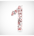 number one from numbers vector image