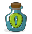O in bottle for scientific research letter in a vector image vector image