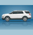 off-road write car modern vip transport offroad vector image vector image