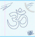 om or aum indian sacred sound line sketch icon vector image vector image