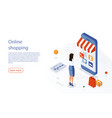 online shopping ecommerce 24 hours customer vector image