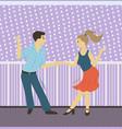 people dancing hobman and woman vector image vector image