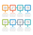 puzzle infographics vector image vector image