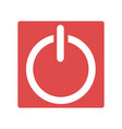 red power icon simple vector image