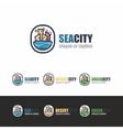 SeaCity logo template vector image vector image