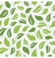 Seamless leaf pattern vector image vector image