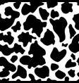 seamless texture of cow hide vector image