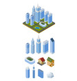 set isometric buildings treble-style vector image vector image