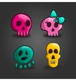 Set of cartoon skulls vector image vector image