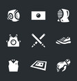 set of kendo icons vector image