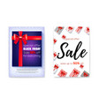 set of poster for events of sale price reduction vector image vector image