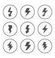 set round icons lightning vector image vector image