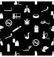 smoking and cigarettes black and white seamless vector image