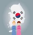 south korea design vector image