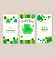 st patricks day vertical banners set vector image vector image