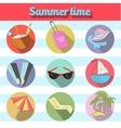 Summer beach travel logo icon vector image vector image