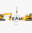 team building banner template design concept vector image vector image