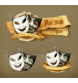 Theater masks icon vector image vector image