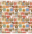 Vintage gadget seamless pattern vector image