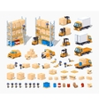 Warehouse Set of objects vector image