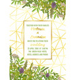 wedding invitation with greenery vector image vector image
