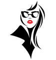 women silhouette black icon on white vector image vector image