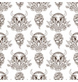 seamless pattern from outline drawings of cows vector image