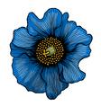 beautiful blue flower vector image