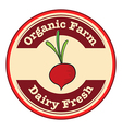 A dairy fresh and an organic farm logo with an vector image vector image