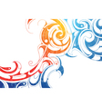abstract swirls vector image vector image
