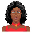 african girl wearing red dress on white background vector image vector image