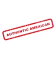 Authentic American Text Rubber Stamp vector image vector image