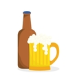 Beer design brewery icon beverage concept vector image