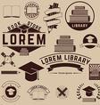 book logo library logo book store vector image