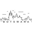 botswana outline icon can be used for web logo vector image