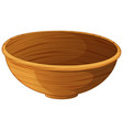 bowl made of wood vector image vector image